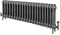 Eastgate Victoriana 3 Column 21 Section Cast Iron Radiator 450mm High x 1298mm Wide - Metallic Finish